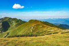 Mala Fatra berg på Slovakien Fotografering för Bildbyråer