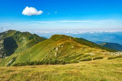 Mala Fatra mountains at Slovakia. Mala Fatra is a mountain range in northern Slovakia in the Zilina Region. After High Tatras, Low Tatras and Orava Beskydy is stock image