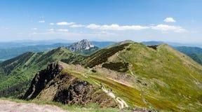 Mala Fatra mountain range in Slovakia from Chleb hill royalty free stock photos