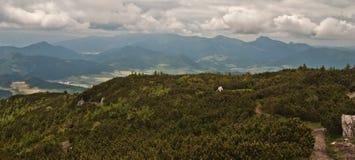Mala Fatra mountains from Velky Choc hill Stock Photo