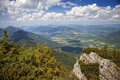 Mala Fatra Scenery. Beautiful scenery from Big Krivan in Mala Fatra National Park, Terchová area in the Slovak Republic, Europa Stock Photo