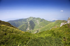 Mala Fatra Scenery. Beautiful scenery from Big Krivan in Mala Fatra National Park, Terchová area in the Slovak Republic, Europa Royalty Free Stock Photography
