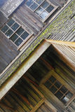 mala gammalt trä arkivbild