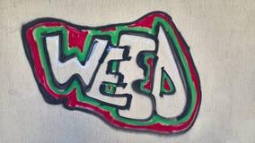 Mala hierba Graffity Imágenes de archivo libres de regalías