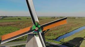 Mala i zoom Holland för den flyg- sikten ut, closeupen arkivfilmer