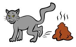 Mala ilustración del gato. JPG y EPS Foto de archivo libre de regalías