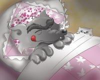 Mala ilustración lobo-digital   Foto de archivo libre de regalías