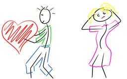 Mala opción del amor Imagenes de archivo