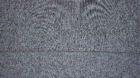 Mala pantalla de interferencia de ruido de la señal de la TV la televisión fotos de archivo libres de regalías