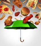 Mala protección de la dieta Imagenes de archivo