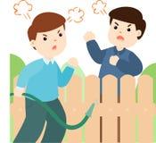 Mala relación del vecino stock de ilustración