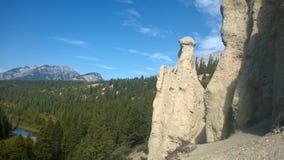 Mala sombra de la montaña de banff del valle del arco Imágenes de archivo libres de regalías
