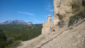 Mala sombra de la montaña de banff del valle del arco Fotos de archivo libres de regalías