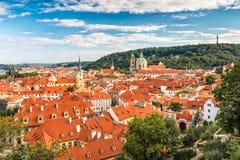 Mala Strana,布拉格红色屋顶  库存照片