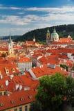 Mala Strana,布拉格红色屋顶  库存图片