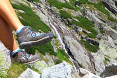 Mala studena dolina -谷在高Tatras,斯洛伐克 免版税库存照片