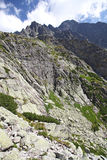 Mala studena dolina - dolina w Wysokim Tatras, Sistani Fotografia Royalty Free
