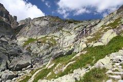Mala studena dolina - dolina w Wysokim Tatras, Sistani Zdjęcie Stock