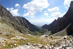 Mala studena dolina - dolina w Wysokim Tatras, Sistani Obrazy Stock