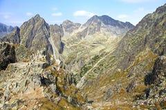 Mala-studena dolina - Tal in hohem Tatras, Slowakei Lizenzfreies Stockbild