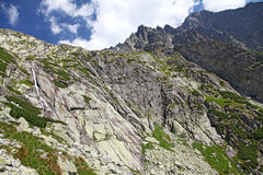 Mala studena dolina -谷在高Tatras,斯洛伐克 库存图片