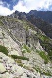 Mala studena dolina -谷在高Tatras,斯洛伐克 免版税图库摄影