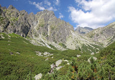 Mala studena dolina - valley in High Tatras, Slovakia Royalty Free Stock Photos