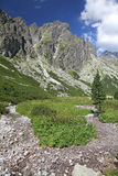 Mala studena dolina - valley in High Tatras, Slova Royalty Free Stock Image