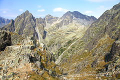 Mala studena dolina - valley in High Tatras, Slovakia Royalty Free Stock Image