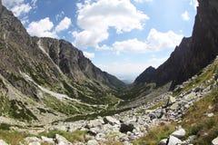 Mala studenadolina - dal i höga Tatras, Slovakien Fotografering för Bildbyråer
