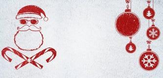 Mala tarjeta de Navidad de Papá Noel Imagen de archivo