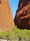 The Mala walk of Ayers rock Stock Images