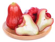 Malabaräpfel getrennt auf weißem Hintergrund stockfotografie