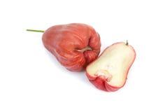 Malabaräpfel getrennt auf weißem Hintergrund Stockbild