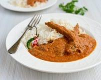 Malabar Mutton Curry- Kerala cuisine. Mutton curry, Kerala Sri Lankan, curry with rice stock photo