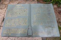 MALACA, MALASIA - 16 DE JULIO DE 2016: Biblia de piedra de St Francis Xavier Church por la mañana el 16 de julio de 2016 en Malac Fotografía de archivo libre de regalías