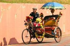 Malaca pedicab Stock Photos