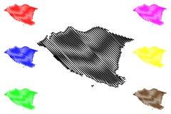 Malacca διάνυσμα χαρτών ελεύθερη απεικόνιση δικαιώματος