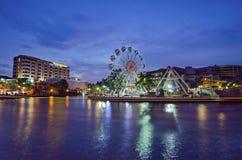 MALACCA, ΜΑΛΑΙΣΙΑ - 23 ΜΑΡΤΊΟΥ: Malacca μάτι στις τράπεζες Melaka Στοκ εικόνα με δικαίωμα ελεύθερης χρήσης