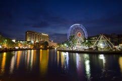 MALACCA, ΜΑΛΑΙΣΙΑ - 23 ΜΑΡΤΊΟΥ: Malacca μάτι στις τράπεζες Melaka Στοκ Εικόνα