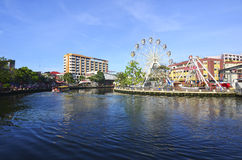 MALACCA, ΜΑΛΑΙΣΙΑ - 23 ΜΑΡΤΊΟΥ: Malacca μάτι στις τράπεζες Melaka Στοκ φωτογραφία με δικαίωμα ελεύθερης χρήσης