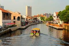 Malacca ποταμός Στοκ εικόνα με δικαίωμα ελεύθερης χρήσης