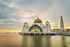 Malacca cieśniny Meczetowe Obrazy Royalty Free