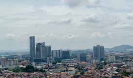 Malacca City Landscape, taken from above Royalty Free Stock Photography