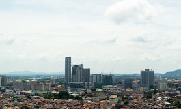 Malacca City Landscape, taken from above Royalty Free Stock Images