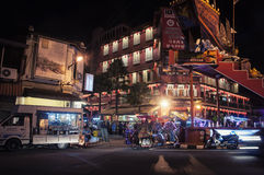 Malacca city at night, Malaysia Royalty Free Stock Images