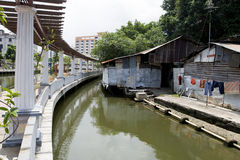Malacca City Riverside Promenade, Malaysia. Malacca is listed as UNESCO World Heritage Site since 2008 Stock Photos