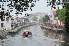 Malacca City Riverside Promenade, Malaysia Stock Photography