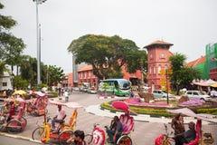 Malacca city, world heritage city  in Melaka, Malaysia Stock Images