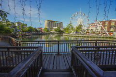 Malacca eye on the banks of Melaka river Stock Photography
